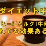 ダイエット中 コーヒーミルク(牛乳)